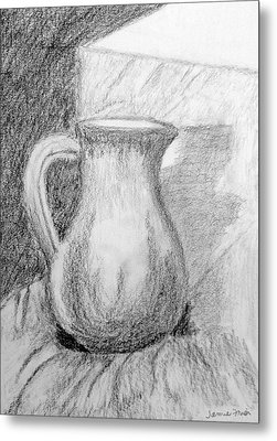 Pencil Pitcher Metal Print by Jamie Frier