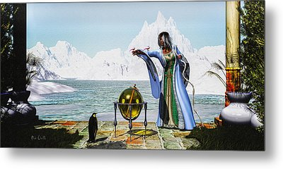 Penguin Magic And The Winter Witch Metal Print by Bob Orsillo