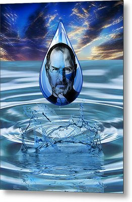 People Changing History Steve Jobs Metal Print by Marvin Blaine