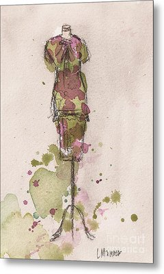 Peplum Dress Metal Print by Lauren Maurer