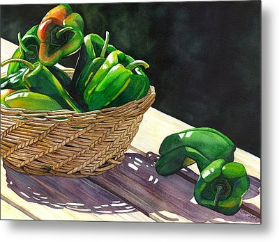 Peppers Metal Print by Catherine G McElroy