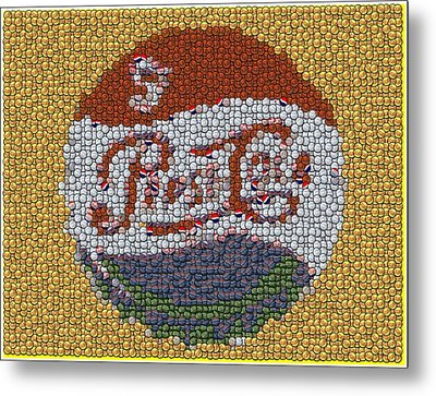 Pepsi Bottle Cap Mosaic Metal Print by Paul Van Scott
