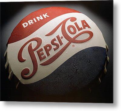 Pepsi Sign Metal Print by Bob Nardi