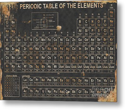 Periodic Table Grunge Style Metal Print by Christopher Williams