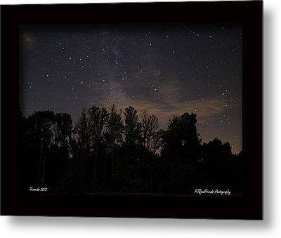 Perseid Meteor In Milky Way Metal Print by PJQandFriends Photography