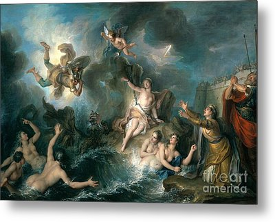 Perseus Rescuing Andromeda Metal Print by Charles Antoine Coypel