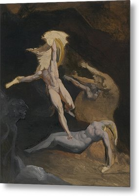 Perseus Slaying The Medusa Metal Print by Henry Fuseli