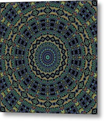 Persian Carpet Metal Print by Joy McKenzie