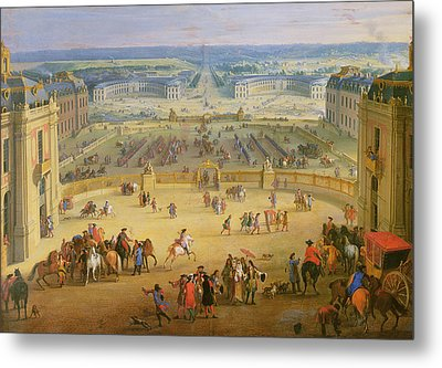 Perspective View From The Chateau Of Versailles Metal Print by Jean-Baptiste Martin
