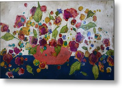 Petals And Leaves No. 2 Metal Print by Jane Spakowsky