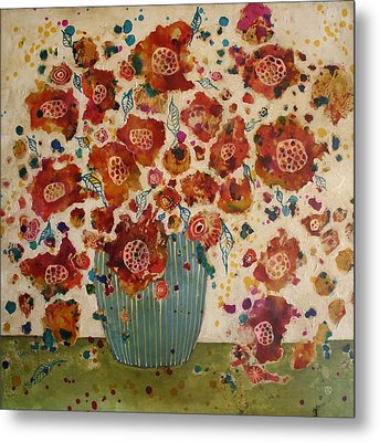 Petals And Leaves No. 4 Metal Print by Jane Spakowsky