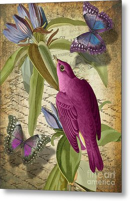 Petals And Wings I Metal Print by Mindy Sommers
