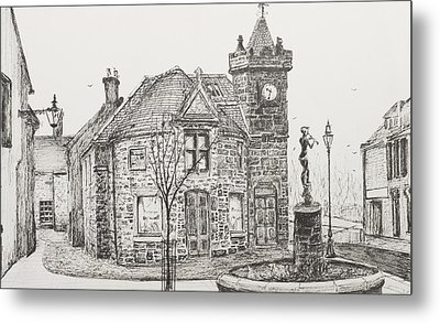 Peter Pan Statue Kirriemuir Scotland Metal Print by Vincent Alexander Booth