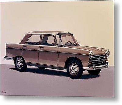 Peugeot 404 1960 Painting Metal Print by Paul Meijering