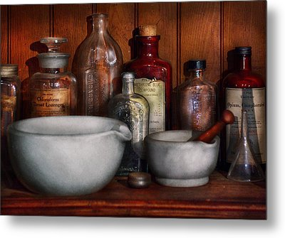 Pharmacist - Medicine For Coughing Metal Print by Mike Savad