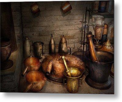 Pharmacy - Alchemist's Kitchen Metal Print by Mike Savad