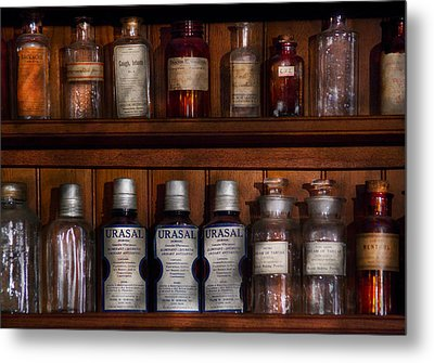 Pharmacy - Bonafide Cures Metal Print by Mike Savad