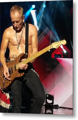 Phil Collen Of Def Leppard 2 Metal Print by David Patterson
