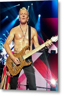 Phil Collen Of Def Leppard 5 Metal Print by David Patterson
