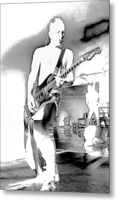 Phil Collen Of Def Leppard Metal Print by David Patterson