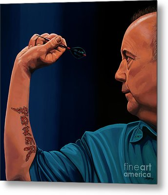 Phil Taylor The Power Metal Print by Paul Meijering