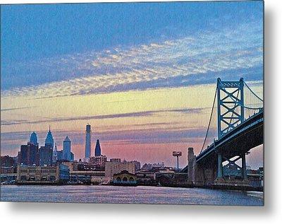 Philadelphia At Dawn Metal Print by Bill Cannon