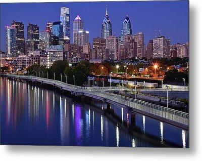 Philadelphia Blue Hour Metal Print by Frozen in Time Fine Art Photography