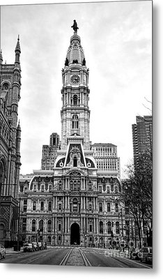 Philadelphia City Hall Building On Broad Street Metal Print by Olivier Le Queinec