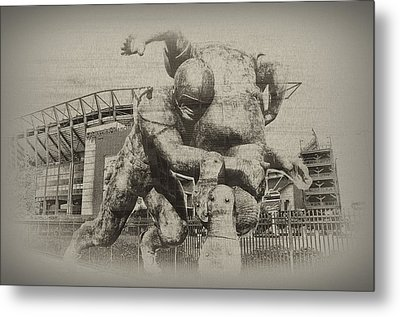 Philadelphia Eagles At The Linc Metal Print by Bill Cannon