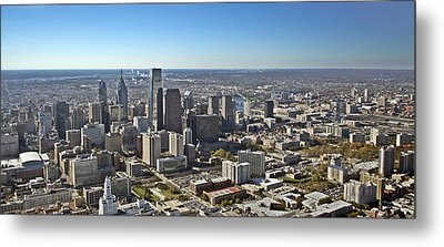 Philadelphia From North To South Metal Print by Duncan Pearson