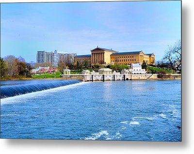 Philadelphia Museum Of Art And The Philadelphia Waterworks Metal Print by Bill Cannon
