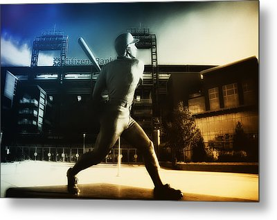 Philadelphia Phillie Mike Schmidt Metal Print by Bill Cannon
