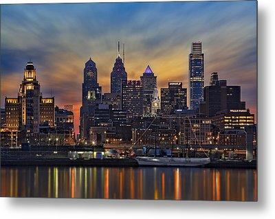 Philadelphia Skyline Metal Print by Susan Candelario