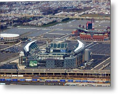 Philadelphia Sports Complex Metal Print by Anthony Totah