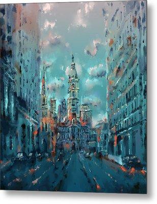 Philadelphia Street Metal Print by Bekim Art