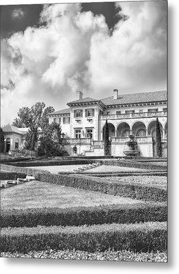 Philbrook Museum Tulsa Oklahoma Black And White Photograph Metal Print by Ann Powell
