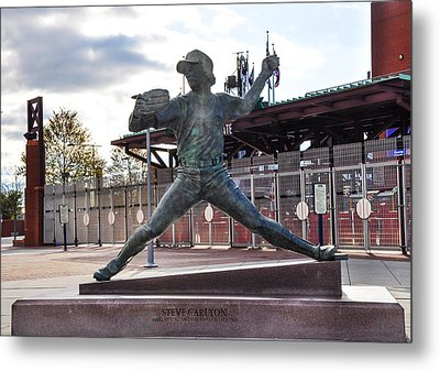 Phillies Hall Of Fame Pitcher Steve Carlton Metal Print by Bill Cannon