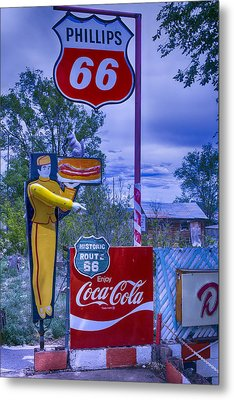 Phillips 66 Sign Metal Print by Garry Gay