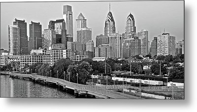 Philly Gray And White Metal Print by Frozen in Time Fine Art Photography