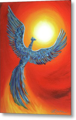 Phoenix Rising Metal Print by Laura Iverson