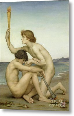 Phosphorus And Hesperus Metal Print by Evelyn De Morgan