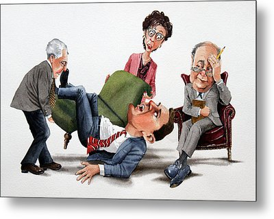Phychiatry Issues Metal Print by Denny Bond
