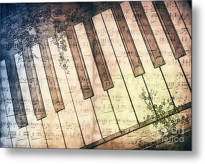Piano Days Metal Print by Jutta Maria Pusl
