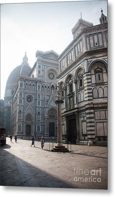 Piazza San Giovanni In The Morning Metal Print by Steven Gray