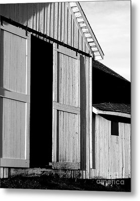 Pierce Point Ranch 16 . Bw Metal Print by Wingsdomain Art and Photography