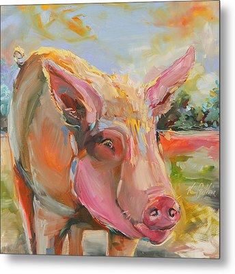 Pig Latin Metal Print by Kim Guthrie