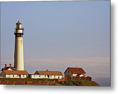 Pigeon Point Lighthouse On California's Pacific Coast Metal Print by Christine Till