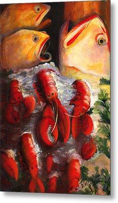 Pike Street Fish Metal Print by Debbie McCulley