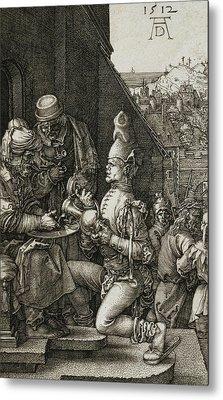 Pilate Washing His Hands Metal Print by Albrecht Durer