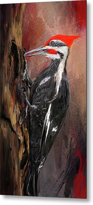 Pileated Woodpecker Art Metal Print by Lourry Legarde